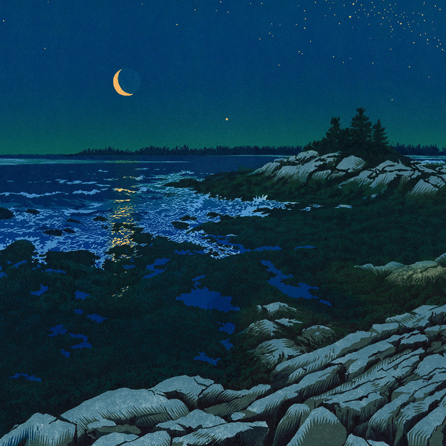 William H. Hays - Crescent Coast - detail