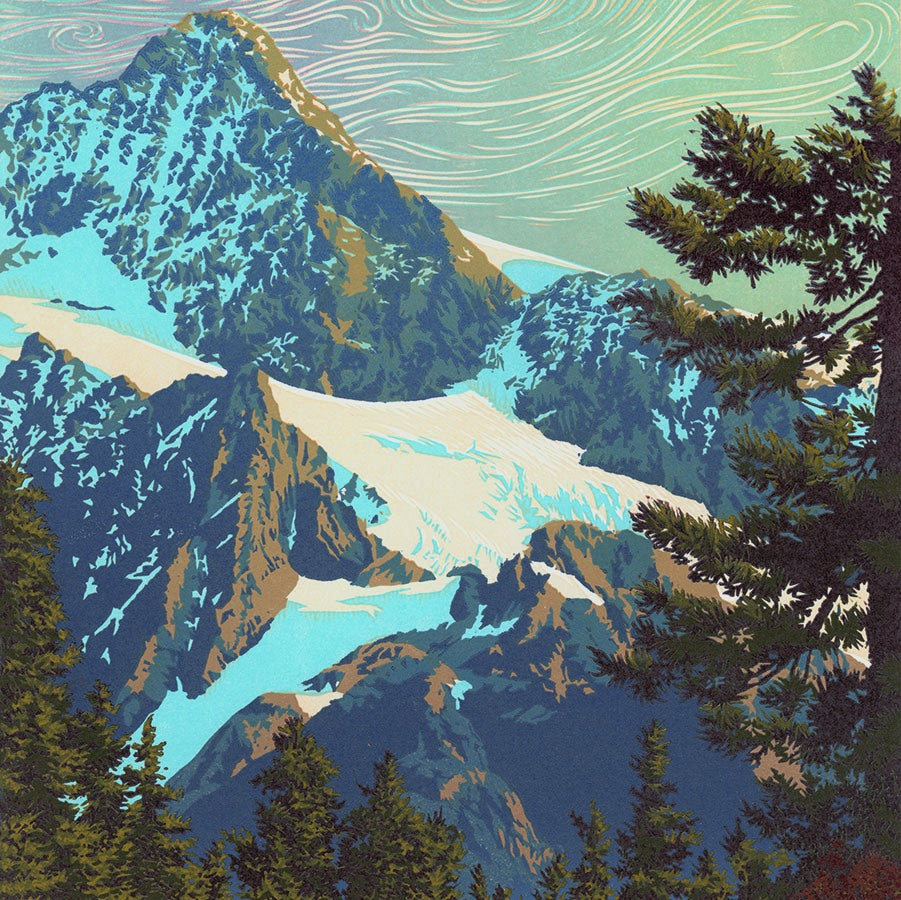 William H Hays - Glorious Day - Cascades Northwest Washington State - Mount Shuksan - detail