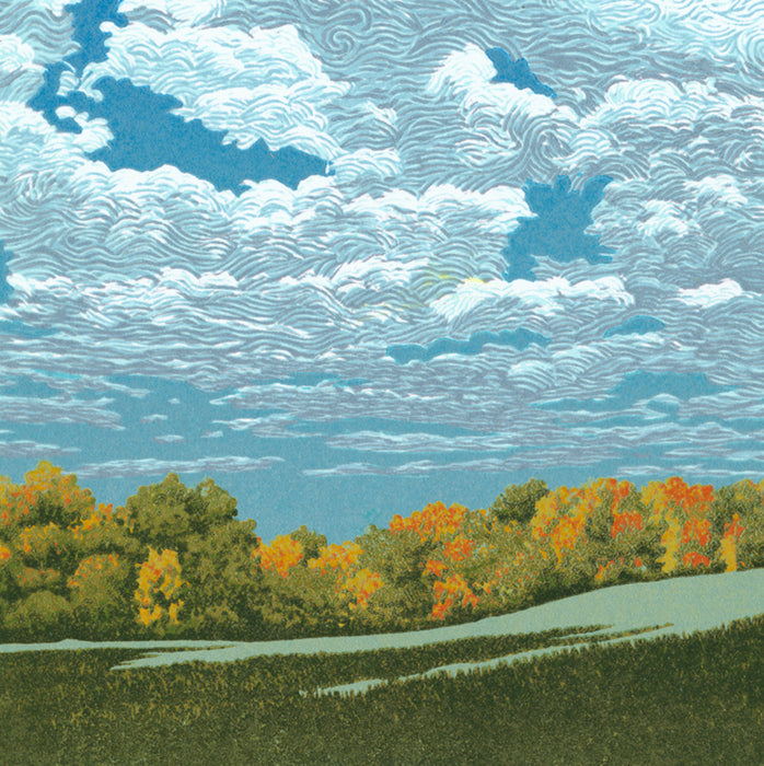 William Hays - Fair Skies - color linocut