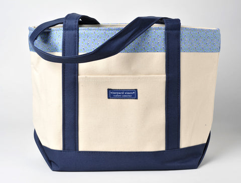 "$95 Blue Vineyard Vines ""Paddle Tennis Sports"" Classic Tote"