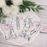 Holographic Moon & Stars Planner Bow Clip, Flag Clip or Bow Charm