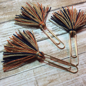 Fall Splendor Tassel Planner Clips