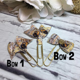 Hufflepuff - Harry Potter Inspired - Choice of Ribbon Bow/Flag Planner Clips / Bookmarks, Planner Accessories, TN Accessories
