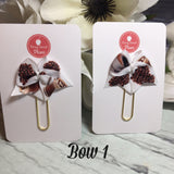JAVA! Ribbon Bow/Flag Planner Clips / Bookmarks, Planner Accessories, TN Accessories