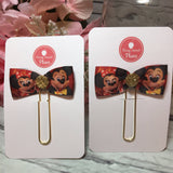 Mickey and Minnie - Disney inspired - Planner Flag Clip, Planner Accessories, TN Accessories