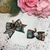 I love Starbucks - Starbucks Inspired Planner Bow Clip or Bow Charm, Planner Accessories, TN Accessories