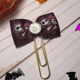 Jack and Sally - Nightmare Before Christmas inspired Planner Bow Clip / Planner Accessories, TN Accessories