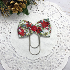 Poinsettias Wide Planner Clip/Charm