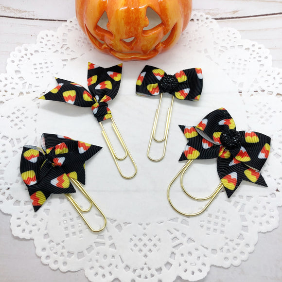 Candy Corn on Black Planner Clips or Charms