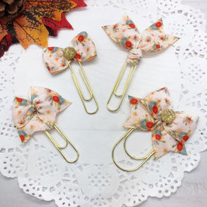 Fall Floral III Planner Clips or Charms