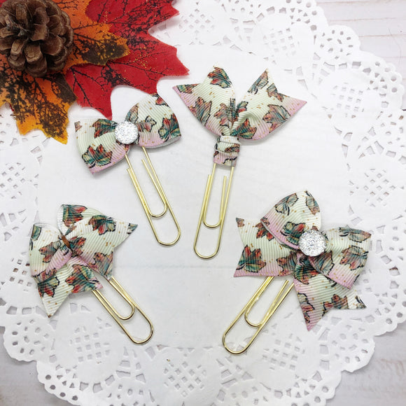 Watercolor Fall Leaves Planner Clips or Charms