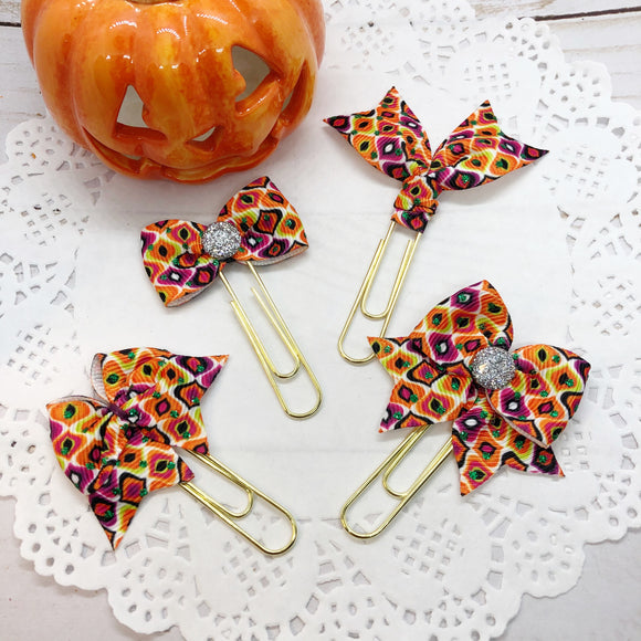 Halloween / Fall Colors I Planner Clips or Charms