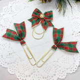 Fancy Christmas Plaid Planner Clips or Charms