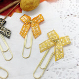 Fall Colors Geometric Mini Bow Planner Clips