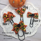 Haunted Houses - Planner Bow Clips, Flag Clips or Bow Charm