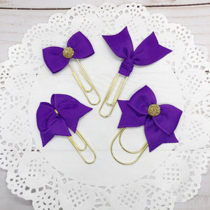 Purple Planner Bow Clip, Flag Clip or Bow Charm