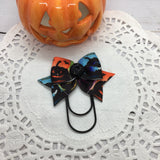 Colorful Jack-o-lanterns Planner Bow Clips, Flag Clips or Bow Charm