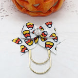 Candy Corn on White Planner Clips or Charms