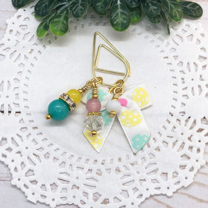 Mini Easter Egg Bow Teardrop Clip, Wide Dangle Clip or Charm