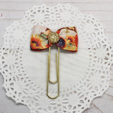 Pumpkins and Sunflowers Planner Clips or Charms