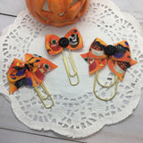 Halloween Treats - Planner Bow Clips, Flag Clips or Bow Charm