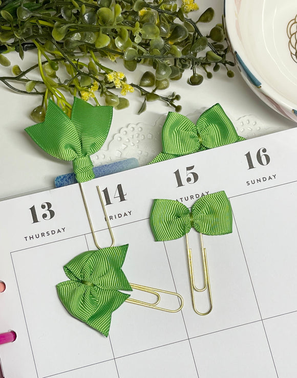 Summer Brights - Leaf Green - Planner Clips or Charms