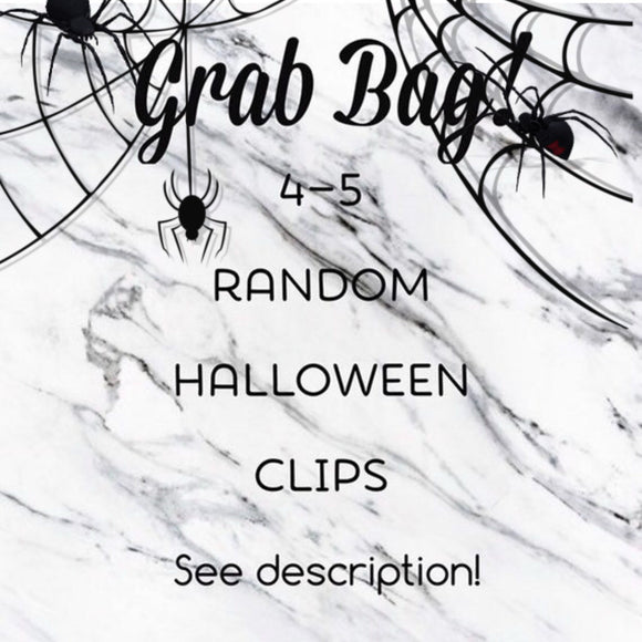 Grab Bag Halloween Themed Planner Clips