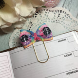 Starbucks inspired Bright Galaxy - Planner Bow Clip or Bow Charm, Planner Accessories, TN Accessories