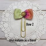 Watermelon, Grape  and Lime Watercolors Planner Bow Clip, Flag Clip or Bow Charm