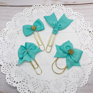 Mint Planner Bow Clip, Flag Clip or Bow Charm