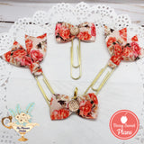 Orange Floral Planner Clips or Charms