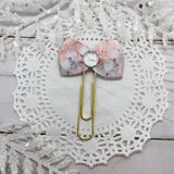 Pink & Gray Marble Planner Clips or Charms