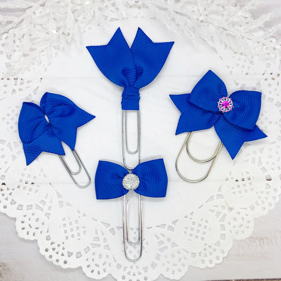 Royal Blue Planner Clips or Charms