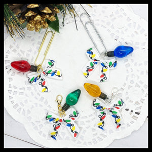 Christmas Light Planner Dangle Clip or Charm