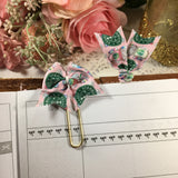 Pink Starbucks Inspired Planner Bow Clip or Charm