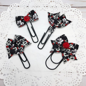 Mickey Faces Planner Bow Clip, Flag Clip or Bow Charm