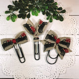 Valentine Truck Planner Bow Clip, Flag Clip or Bow Charm
