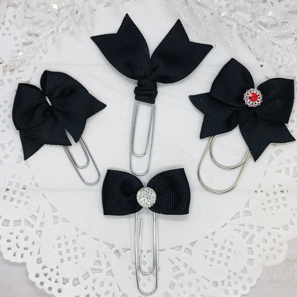 Black II Planner Clips or Charms