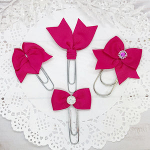 Hot Pink Planner Clips or Charms