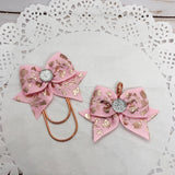 Rose Gold Flowers on Pink Planner Clips or Charms