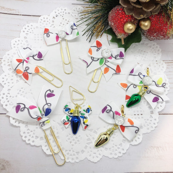 Christmas Lights Planner Clips or Charms