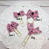 Hedgies on Pink Planner Bow Clip, Flag Clip or Bow Charm