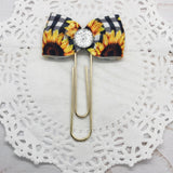 Sunflowers & Checks Planner Clips or Charms
