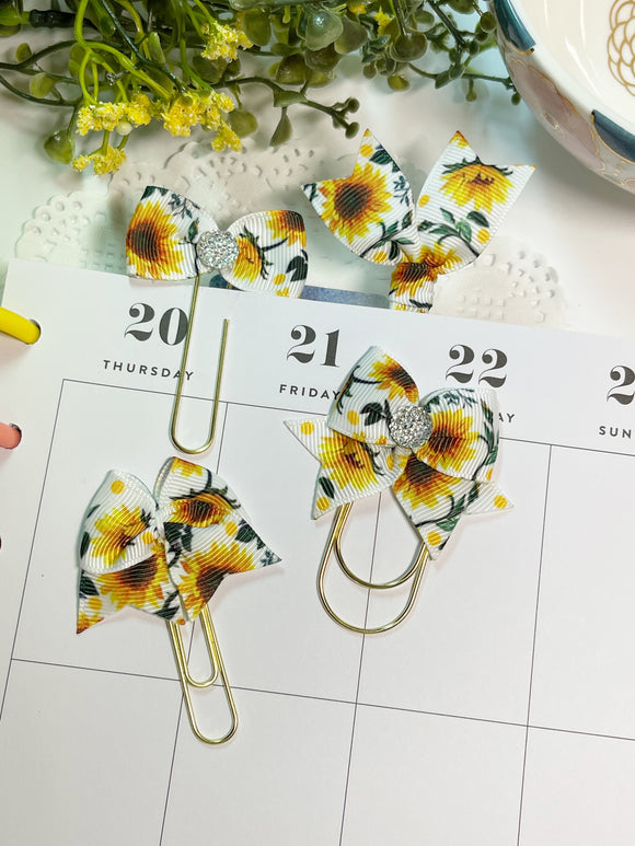 Summer Sunflowers Planner Clips or Charms