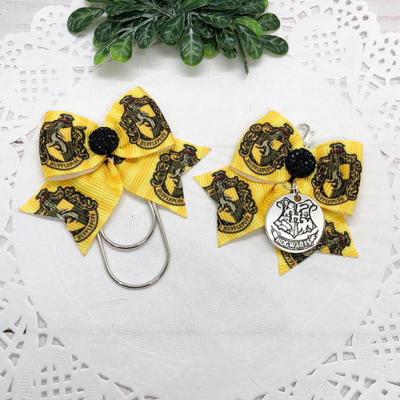 Harry Potter Inspired Hufflepuff Planner Charm or Clip
