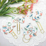 Spring Garden Planner Bow Clip, Flag Clip or Bow Charm