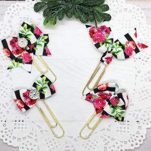 Roses & Stripes Planner Clips or Charms