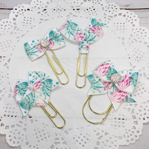 Jellyfish Fields Planner Bow Clip, Flag Clip or Bow Charm