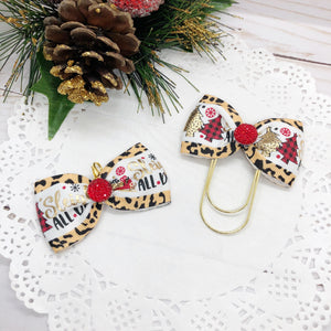 Sleigh All Day Wide Bow Planner Clip or Charm