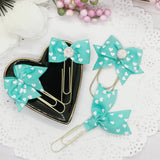 Be Mine Teal Planner Bow Clip, Flag Clip or Bow Charm